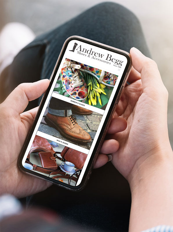 Andrew Begg Shoes - Mobile Responsive Design - Inverness