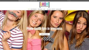 Gruvi Photo Booths - Website Design - Inverness